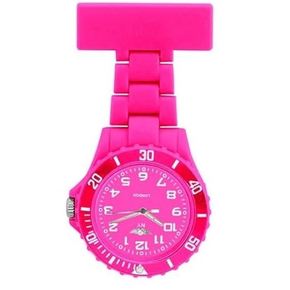 Prince NY London goma giratoria Unisex - Reloj de bolsillo para Enfermeras En Color Rosa y juego de cara con 3d marcapáginas Combo se vende por Trendz: ...