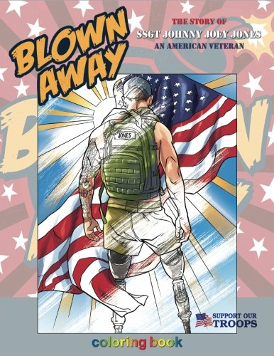 Blown Away: The Story of SSGT Johnny Joey Jones Coloring Book cover