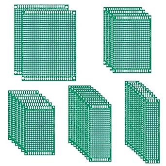 Amazon.com: uniroi 35pcs doble cara placa PCB prototipo Kit ...