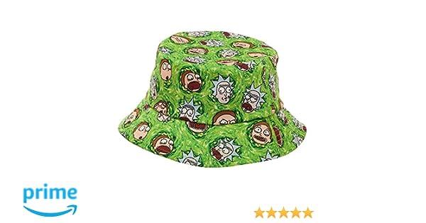 bad8a0d0b36f1 Amazon.com  RICK AND MORTY Cartoon Network Portal Bucket Hat  Clothing