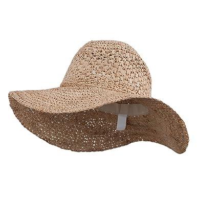 a9d2810c Women's Raffia Straw Sun Hat - Natural OSFM at Amazon Women's ...