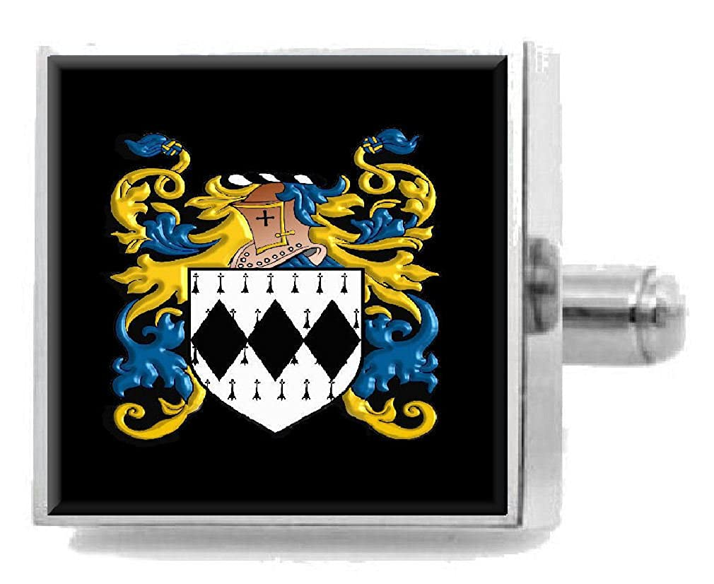 Select Gifts Piggott Ireland Family Crest Surname Coat Of Arms Cufflinks Personalised Case
