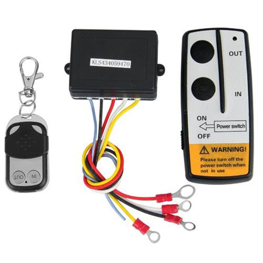 Wireless Winch Remote Control Kit 12V Switch Compatible with Jeep