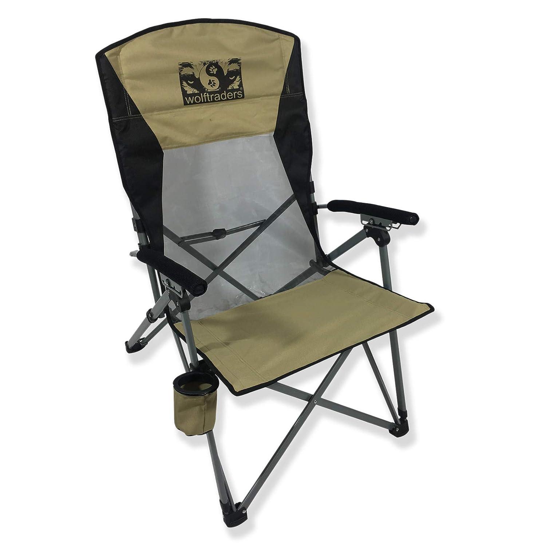 Amazing Wolftraders Laybak Reclining High Mesh Back Folding Camp Chair Short Links Chair Design For Home Short Linksinfo