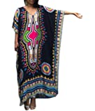Women's Tribal Ethnic Print Turkish Long Maxi Kaftans Dress Cover up