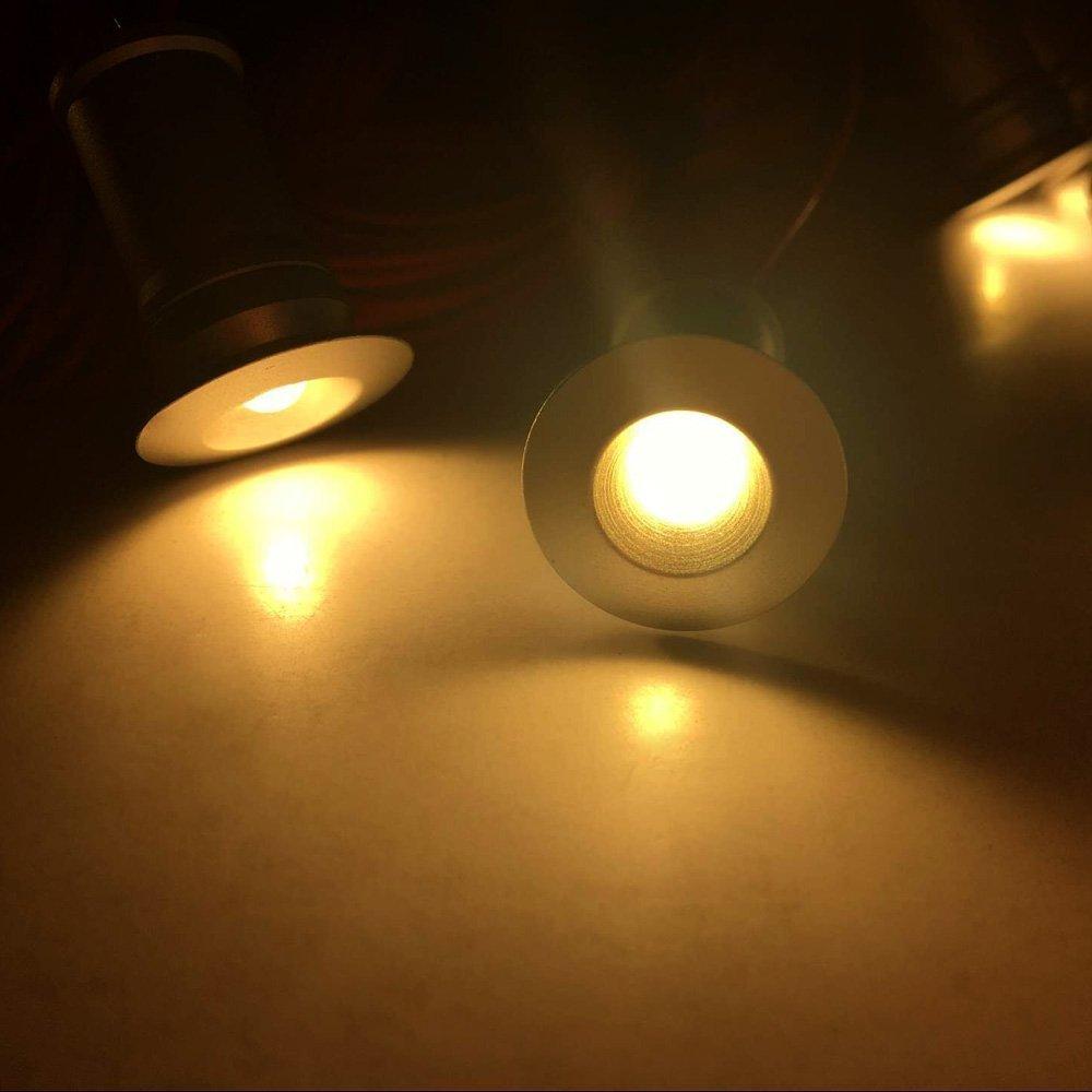 Amazon.com: Aiboo - Luces LED para debajo del gabinete (12 V ...