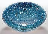 Glass Vessel Sink in Blue by Legion Furniture