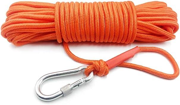 Ourine cuerda de escalada de 10 m de cuerda de escape de emergencia de incendios con mosquetón de nylon de alta resistencia cuerda de seguridad