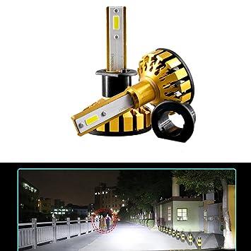Juego de 2 bombillas LED para faros delanteros de coche Canbus H1 de 50 W y