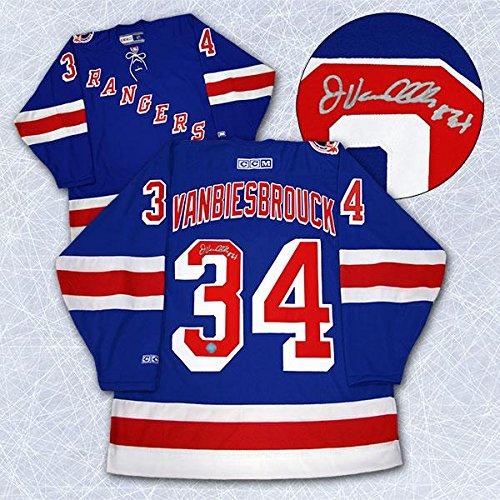 b3e6ca4c2 Amazon.com  Autographed John Vanbiesbrouck Jersey - Retro CCM - Autographed  NHL Jerseys  Sports Collectibles