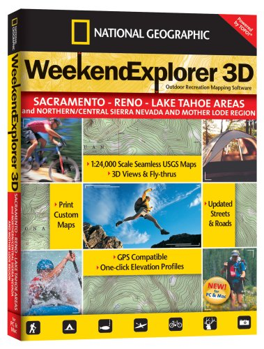 TOPO! Weekend Explorer 3D Outdoor Recreation Mapping Software (Sacramento, Reno, and Lake Tahoe Areas)