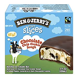 Ben & Jerry's Pint Slices, Chocolate Chip Cookie Dough 3 ct (Frozen)