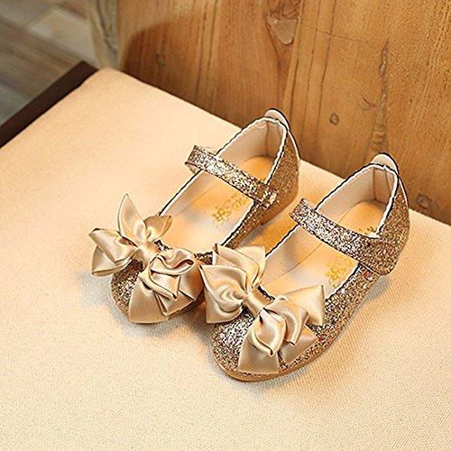 Para Princesa Muchacha Los Arcos Solo Cuero Las Oro Moda De Helados Danza Zapatos Niños Calzan Niñas Yanhoo Brillante Planos 4qA5FF