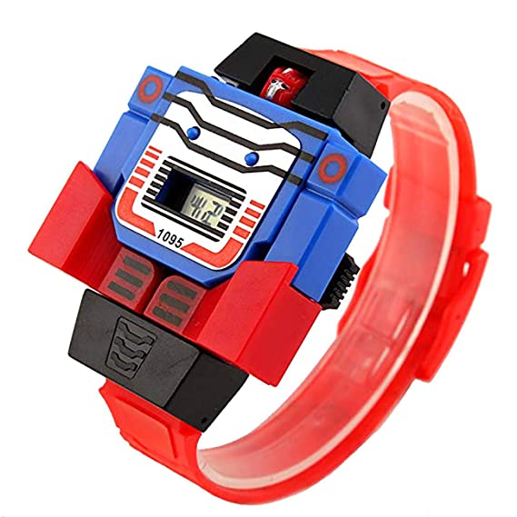 Robot Transformer - Reloj Digital para niños (3-7 7-10 11-15 ...