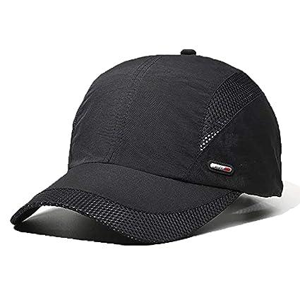 LAOWWO Sombrero de Gorra de Béisbol, Secado Rápido Delgado Gorra de Running Golf Deportes Gorros