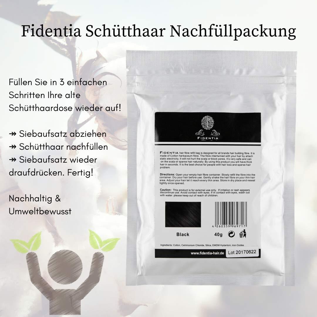 Fidentia Hair - Fibras Capilares Ricarica 40g, Gris - Grey