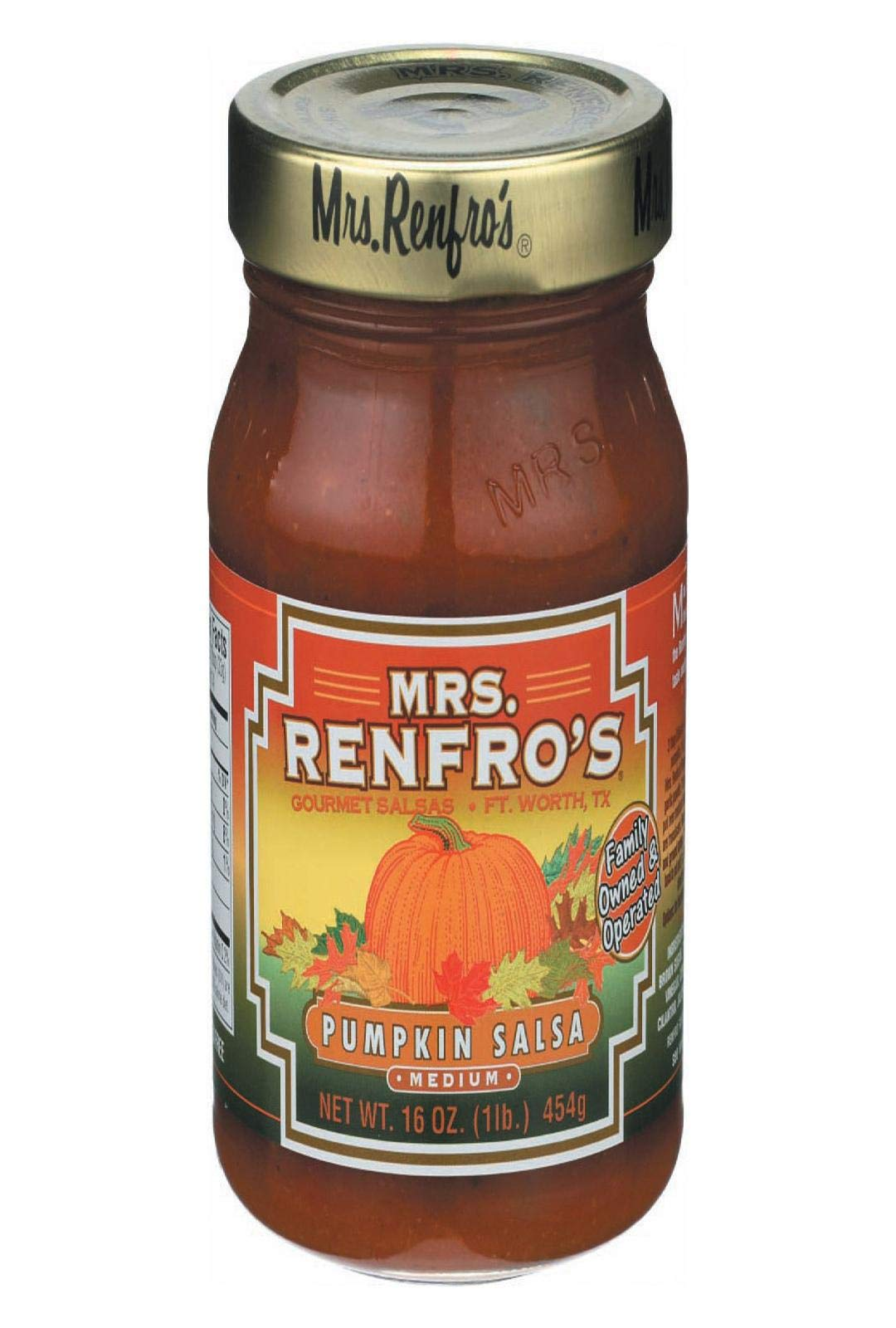 MRS. RENFRO'S, SALSA, MEDIUM, Pack of 6, Size 16 OZ - No Artificial Ingredients