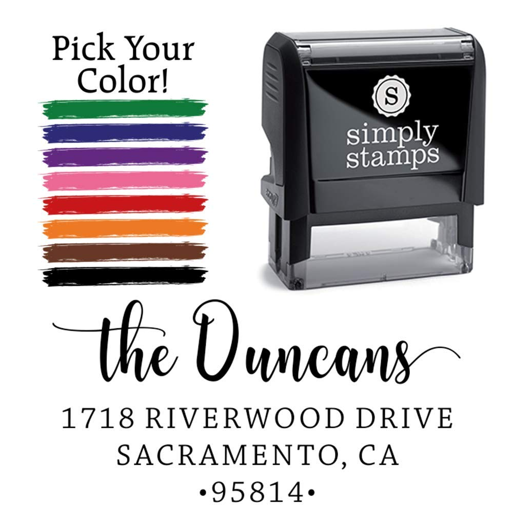Personalized Address Stamp - Recycled Plastic, Climate Neutral Stamper - Custom Self-Inking Stamp by 904 Custom