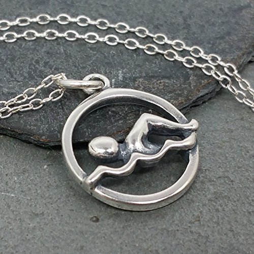 Swimming Necklace 925 Sterling Silver product image