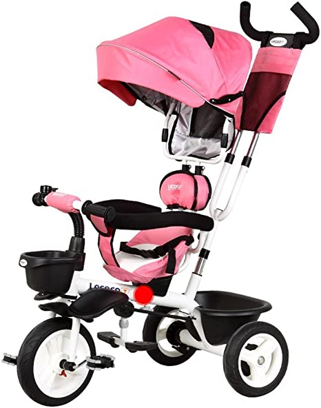 DACHUI Childrens triciclo, bicicleta, carrito de bebé cochecito ...