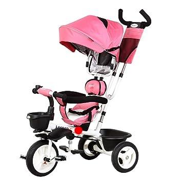 DACHUI Childrens triciclo, bicicleta, carrito de bebé cochecito de bebé (Color : Rosa
