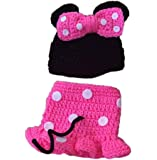 Pinbo Nebworn Baby Girls Photo Prop Crochet Mouse Hat Dress Shoes