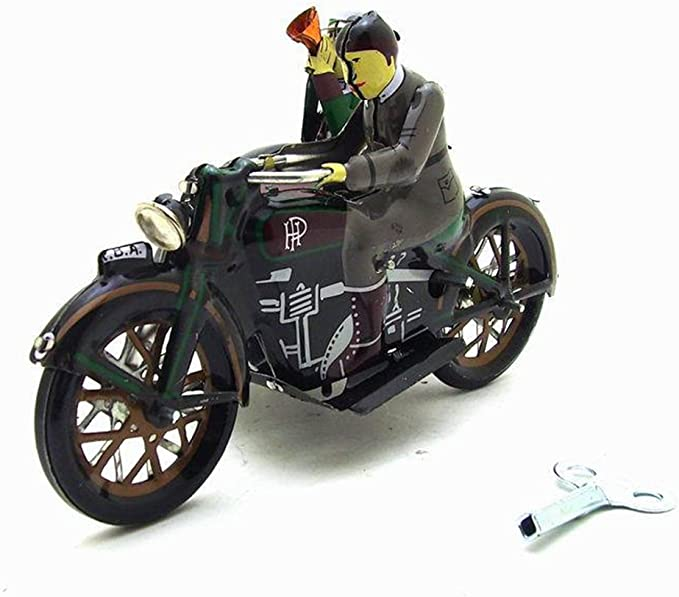 Faironly Kinder Retro Aufziehmotor Dreirad Spielzeug Kreative Blech Spielzeug Home Decor Grau