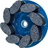 PFERD 83972 M-Brad Standard Density Composite Disc Brush, Silicon Carbide, 8'' Diameter, 0.045 x 0.090 Rectangular Filament, 1800 rpm, 80 Grit