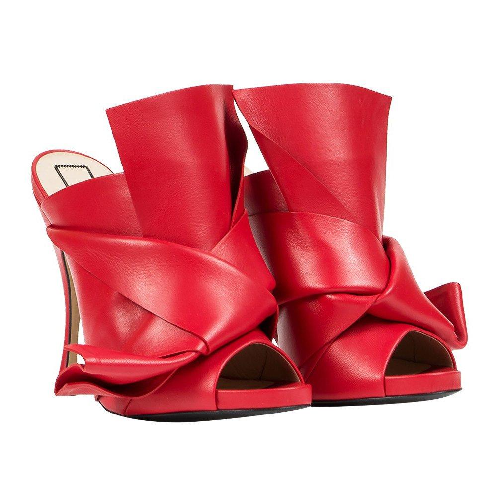 N°21 Damen Leder 80036 Rot Leder Damen Absatzschuhe 6cb2be