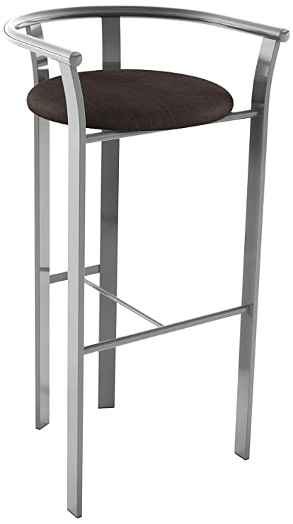 Amazoncom Amisco Lolo Metal Counter Stool 26 Inch Magnetite