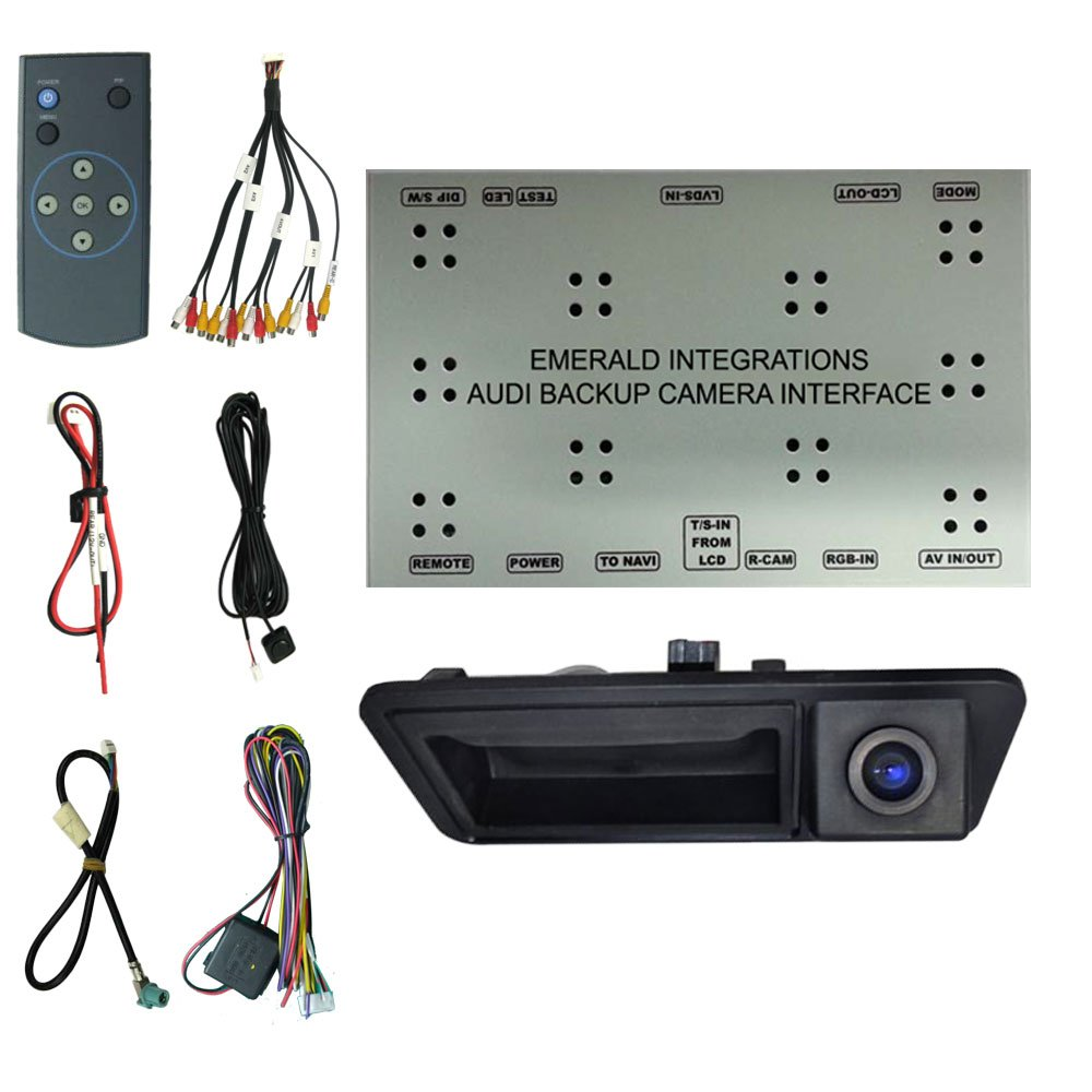 Audi Backup Camera System With Oem Integration Interface Scosche Wiring Harness Vw And Tailgate Handle Reverse For A4 A5 A6 A8 Q5 Q7 3gmmi