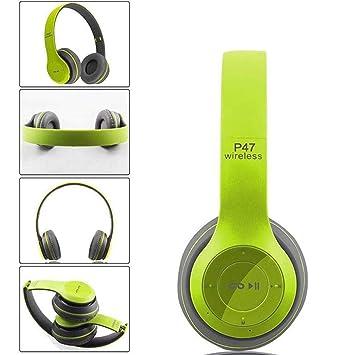 Amiubo Auriculares Bluetooth Auriculares inalámbricos estéreo inalámbricos Bluetooth Sobre Oreja con micrófono y Control de Volumen: Amazon.es: Electrónica
