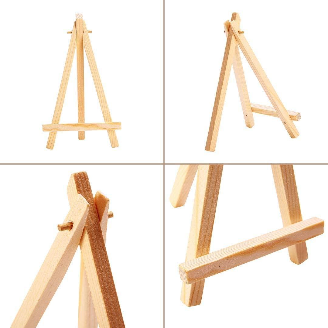 10 hojas de regalo utilizado para bodas 10 mini triangulares de madera tarjetas de visita Mini caballete de madera decoraci/ón de cumplea/ños