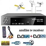 Leoie Smart Digital Satellite TV Receiver DVB-T2+DVB-S2 FTA 1080P Decoder Tuner MPEG4