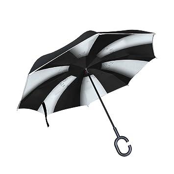 BENNIGIRY Paraguas Reversible Plegable de Doble Capa con Protección UV para la Lluvia del Coche,