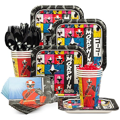 Costume Supercenter Power Rangers Ninja Steel Birthday Party Standard Tableware Kit -