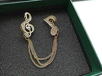 Amazon.com: Traje Accesorios vidrio de diamante broche ...
