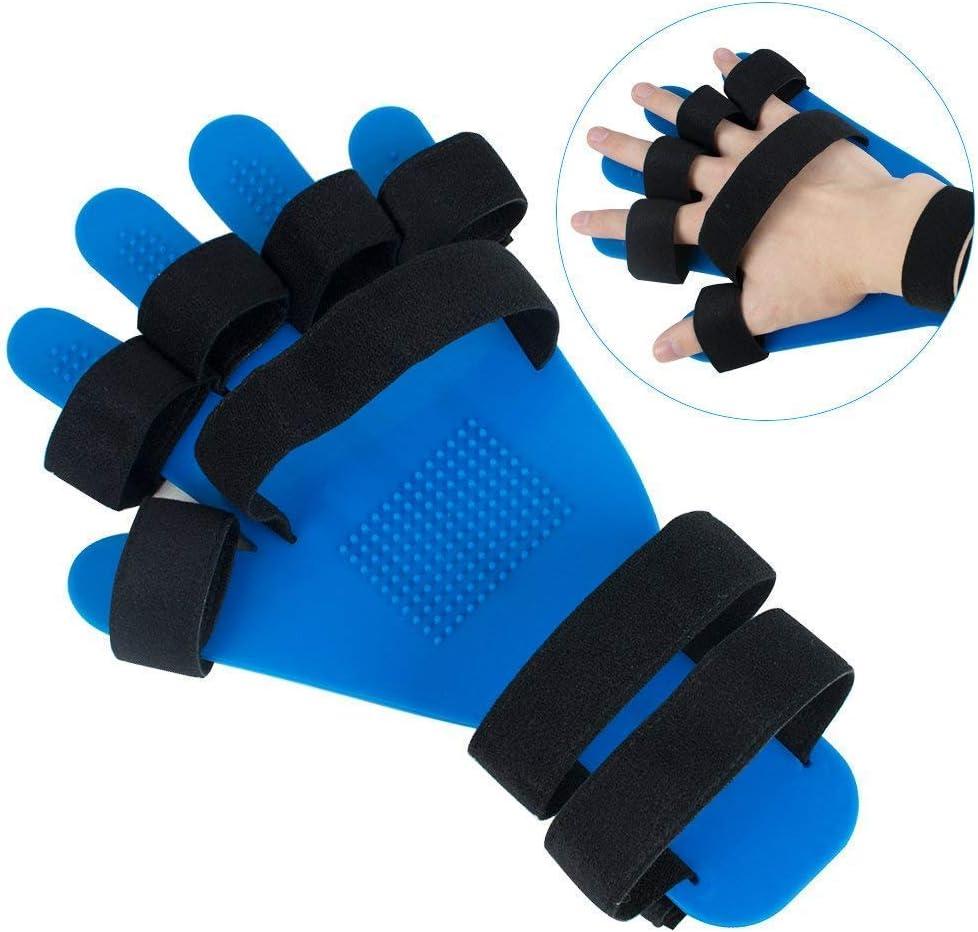 YUXINCAI Órtesis De Dedo para Extensión De Niño Adulto Alicates Fijos Rotura Placa De Soporte Adecuada para Niños Esguince Rehabilitación Postura,Azul