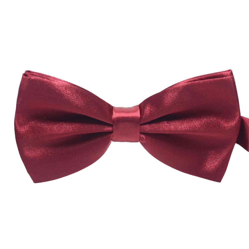 NUWFOR Men Bow Tie Adjustable Length wedding Male Fashion Boys Girls kids Women Satin A