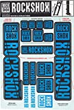 RockShox Decal Kit 35mm Dual Crown Blue