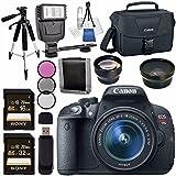 Canon EOS Rebel T5i DSLR Camera with 18-55mm Lens + 58mm Wide Angle Lens + 58mm 2x Lens + Canon 100ES EOS Shoulder Bag Bundle