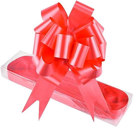 WXJ13 - Pack de 30 lazos de color rojo para cesta de regalo. Con ...