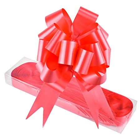 Wxj13 30 Pack Red Gift Basket Pull Bows With Ribbon Strings For For