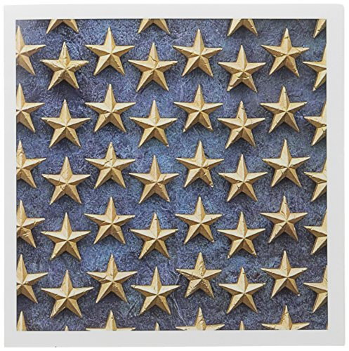 (3dRose Field of Stars, WWII Memorial, Washington DC - US09 DFR0089 - David R. Frazier - Greeting Cards, 6 x 6 inches, set of 12)