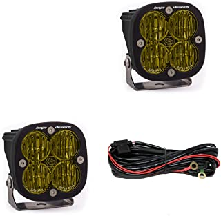 product image for Baja Designs Squadron SAE Pair LED Wide Cornering Amber Street Legal Fog Kit
