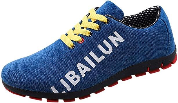 ZODOF calzado deportivo Moda zapatos deportivos hombre Malla Respirable Casual Zapatillas Antideslizante Zapatos para correr(40 EU,Azul): Amazon.es: Bricolaje y herramientas