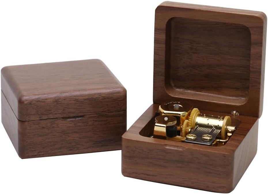 Kicat/® Christmas Music Box Music Box in Legno Boutique Regalo di Compleanno Creativo 001: Carillon di Acero, -A: Kanon