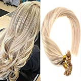 hair extention package - VeSunny 20inch Remy U Tip Hair Extensions Color #18 Ash Blonde Mixed #613 Bleach Blonde Pre Bonded Keratin Hair Extensions 1g/strand 50g Per Package