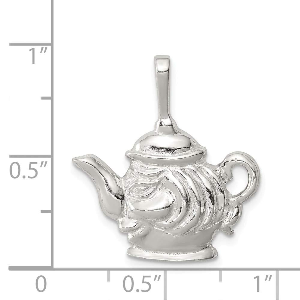 FB Jewels Solid 925 Sterling Silver Teapot Charm