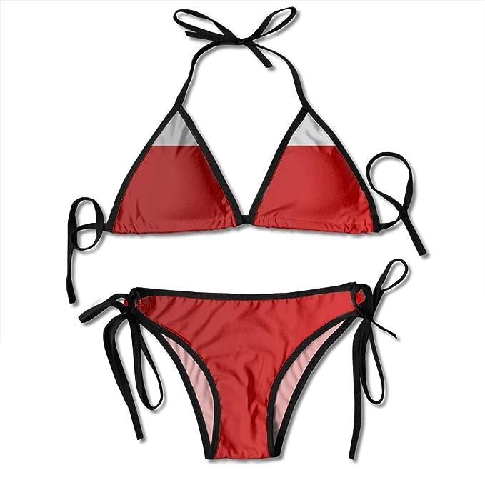 7c207526db Amazon.com: Flag of Gibraltar Sexy Boxing Bikini Women Halterneck Top Set  Swimsuits Beach Swimming: Clothing